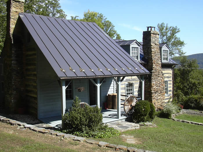 Oyster Lane, Double Log House, Castleton Virginia, Rappahannock County